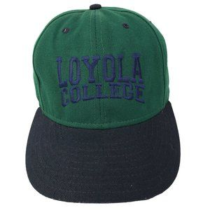 Loyola College Embroidered Baseball Hat Cap Green